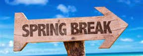 Spring Break March 16 – 27. School re-opens on Monday, March 30.